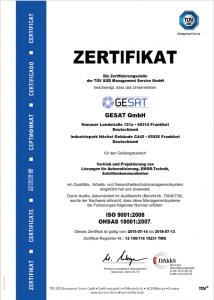 GESAT_Zertifikat_ISO_9001_und_OHSAS_18001