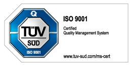 Logo TUEV ISO 9001 en